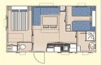 Plan mobil-home 4/6 pers.