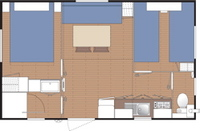 Plan mobil-home 4 pers.